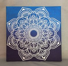 Hand painted mandala canvas 12x12 home by KingzCustomCreations
