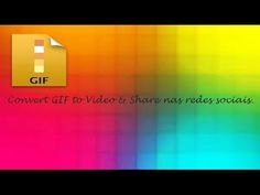 Convert Gif to Video e Share Android #12 ♡ ♥