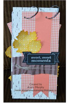 Visit the blog to see more photos of the pages you can make with this kit!!!! alongcamestamping.blogspot.com - Thankful Tablescape Simply Created Kit Scrapbook - Stampin Up