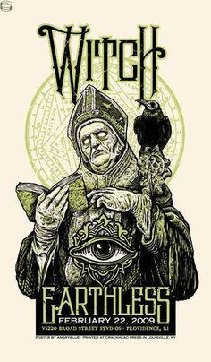 #Gigposter for #Witch and #Earthless by Angryblue.