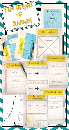 These 8 interactive notebook activities will help students organize information about the ancient Israelites! Interactive notebooks are an effective tool in the classroom. Not only can they assist students in keeping their work organized, but they are also an easy-to-access resource for reference throughout the year.