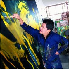 carlos jacanamijoy paintings - Google Search Artists Space, Abstract Art, Paintings, Magazine, Fictional Characters, Google Search, Light And Shadow, Shades, Blank Canvas
