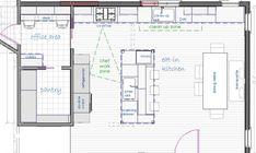 15 Walk In Pantry Floor Plans That Look So Elegant - House Plans Kitchen Floor Plans, House Floor Plans, Kitchen Flooring, Kitchen Pantry Design, New Kitchen, Kitchen Ideas, Kitchen Designs, Kitchen Living, Layout Design