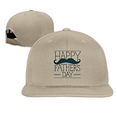 Custom Unisex-Adult Fathers Day Snapback Trucker Hats Caps Natural * To view further for this item, visit the image link.