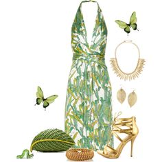 ~Unbe-leaf-able~ by justwanderingon on Polyvore featuring Issa, Shoe Republic LA, Nancy Gonzalez, Fred Leighton and Jules Smith
