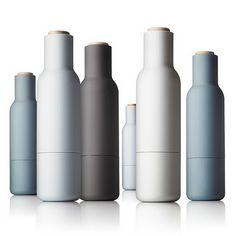 Menu Bottle Grinder Salt + Pepper by Norm Architects Design3000, Salt And Pepper Grinders, Love Your Home, Design Studio, Bottle Design, Scandinavian Design, Kitchenware, Spice Things Up, Kobe