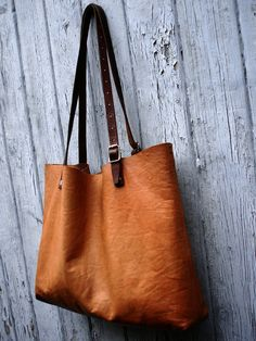 Custom size leather bag / carryall tote / soft by RueDePapier, $190.00