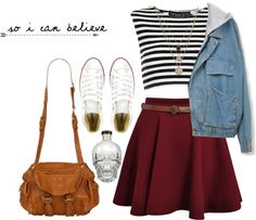 Cute. Polyvore is soooooo good... Create your own clothes designs... I didn't make this... just saying...