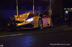 Lamborghini Huracan crashed in Manchester, UK