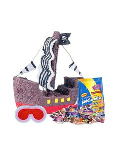 Pirate Ship Pinata Kit! See more birthday party planning ideas at BirthdayinaBox.com!