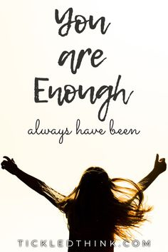 When you feel like you're not enough, or that you are not worthy, read this post to remind yourself that you are more than enough. You Are Enough Quote, Quotes To Live By, Me Quotes, Brene Brown Quotes, Self Love Affirmations, Negative Self Talk, Self Improvement Tips, Learn To Love, Note To Self