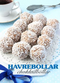 Havrebollar / chokladbollar   Tidningen Hembakat