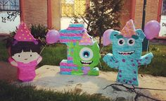 Monster 1st Birthdays, Monster Inc Party, Twins 1st Birthdays, Monster Birthday Parties, Baby Girl Birthday, 2nd Birthday, Monsters Inc Decorations, Monster University Party, Diy Party