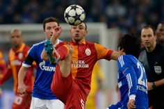Nordin Amrabat of Galatasaray controls the ball during the UEFA Champions League round of 16 second leg match between Schalke 04 and Galatasaray AS at Veltins-Arena on March 12, 2013 in Gelsenkirchen, Germany.
