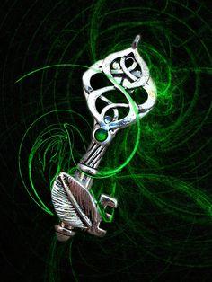 Elemental Spirit Key EARTH by ArtbyStarlaMoore on Etsy, $17.00