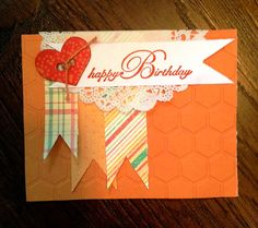 Bright and Orange Birthday Card