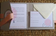 great layout for pocket invitation to showcase all pieces