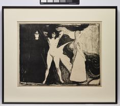 Woman in Three Stages 1899 Edvard Munch Lithograph DMA