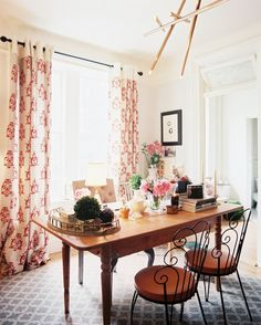 Bohemian Eclectic Traditional Vintage Work Space