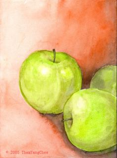 Still Life Painting with Apple by ~yctham on deviantART