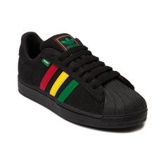 Shop for Mens adidas Superstar Hemp Athletic Shoe in Black Rasta at Journeys Shoes. Shop today for the hottest brands in mens shoes and womens shoes at Journeys.com.An eco-concsious twist on the original Superstar, the adidas Superstar Hemp features a woven hemp upper, signature shell toe, and rasta-vibin three-stripe side panel. Available exclusively at Journeys!