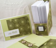 great custom card set idea and templates from papertrey ink