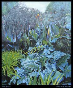 acrylique 'The Blues »sur toile