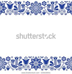 Inga Janicka's media statistics and analytics Cushion Embroidery, Vintage Embroidery, Embroidery Patterns, Print Patterns, Folk Art Flowers, Flower Art, Lazy Daisy Stitch, Scandinavian Folk Art, Floral Drawing