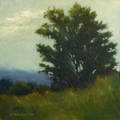 View From The Top by Deborah Angilletta Oil ~ 12 x 12