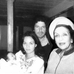 Infant Adam Cohen In Arms Of Mother, Suzanne Elrod, With Father, Leonard Cohen, & Grandmother, Masha Cohen – Montreal 1972 . Posted Feb 13, 2014 by Adam Cohen at Leonard Cohen Facebook page