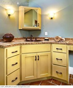 Corner Bathroom Vanity Cabinets Sink And In Of Lab1 0404