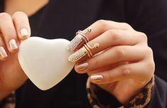 Fashoin Costume Simple Style Nail Ring Surface Inset Lot of Shiny Rhinestone Pretty and Exquisite Nail Rings - Yaling Jewelry