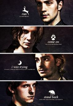Messers Mooney, Wormtail, Padfoot, and Prongs  Last words...WE NEED A PREQUEL! Don't get me wrong, I'm thrilled about J.K. Rowling writing the screenplay for the movie about Newt Scamander, but imagine the response to Marauders series/movies