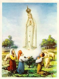 Our Lady of Fatima Rosary Catholic, Catholic Art, Catholic Saints, Santa Bernadette, La Salette, Catholic Pictures, Images Of Mary, Lady Of Fatima, Mama Mary