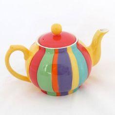 Ceramic Teapots, Ceramic Art, Pottery Painting, Painted Pottery, Tea Cozy, Teapots And Cups, Chocolate Pots, Tea Party, Rainbow