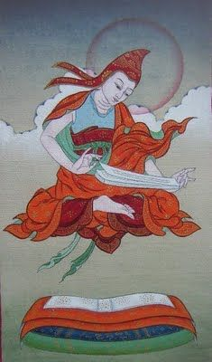 """Shantideva - he uttered the words """"Everything is like space.""""  At this point he began to rise into the sky........."""