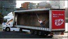 Reklamný polep kamiónu KitKat