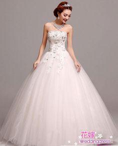 【楽天市場】【ウェディングドレス 二次会】パーティー・結婚式・二次会・ドレス Aライン エンパイアドレス ウェディングドレス 二次会ドレス 花嫁ドレス  豪華な