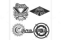 Vintage circus emblems. Poster Templates. $7.00