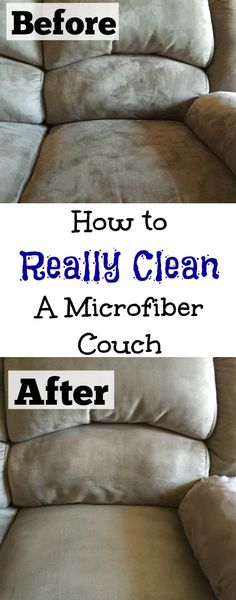 Who knew these two ingredients could completely clean a microfiber couch?