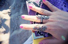 Purple & yellow clutch
