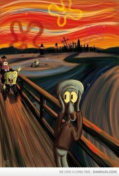 Run Squidward!