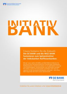 An eye catching image campaign from Serviceplan Campaign Hamburg is accompanying the merger between DZ BANK and WGZ BANK, which was completed 1 August. The new brand presentation of the Deutsche Zentral-Genossenschaftsbank will be set centre stage in striking themes with distinctive typography. Advertising material will be visible in print, online and out of home.