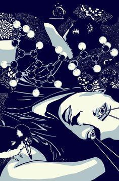 "Kat Menschik Illustration for ""Nemuri"" by Haruki Murakami Illustrations, Graphic Illustration, Haruki Murakami Books, Book Design, Surrealism, Digital Art, Japanese, Drawings, Anime"