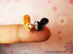 Tiny crochet squirrels