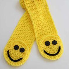 NEW  Smiley Pocket Scarf Crochet Pattern PDF  $4.99