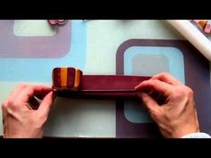 Awesome video - time-lapse demo of making a Millefiori cane and making marbled beads. #polymerclay