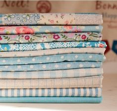 """Cotton Linen Fabric Cloth -DIY Cloth Art Manual Cloth -Sweet Flowers Blue Series  11Pieces 13x19 Inches """" Each by JolinTsai on Etsy https://www.etsy.com/listing/102487861/cotton-linen-fabric-cloth-diy-cloth-art"""