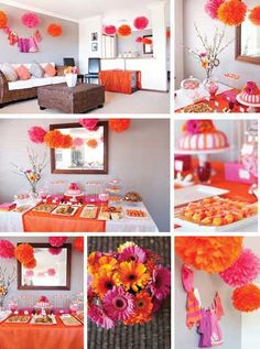 girl baby shower...Take away orange and make it 2 shades of pink. Just my preference.