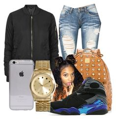 """"" by dxrtysxriteqxeen ❤ liked on Polyvore featuring Topshop, MCM, Jordan Brand and ASOS"